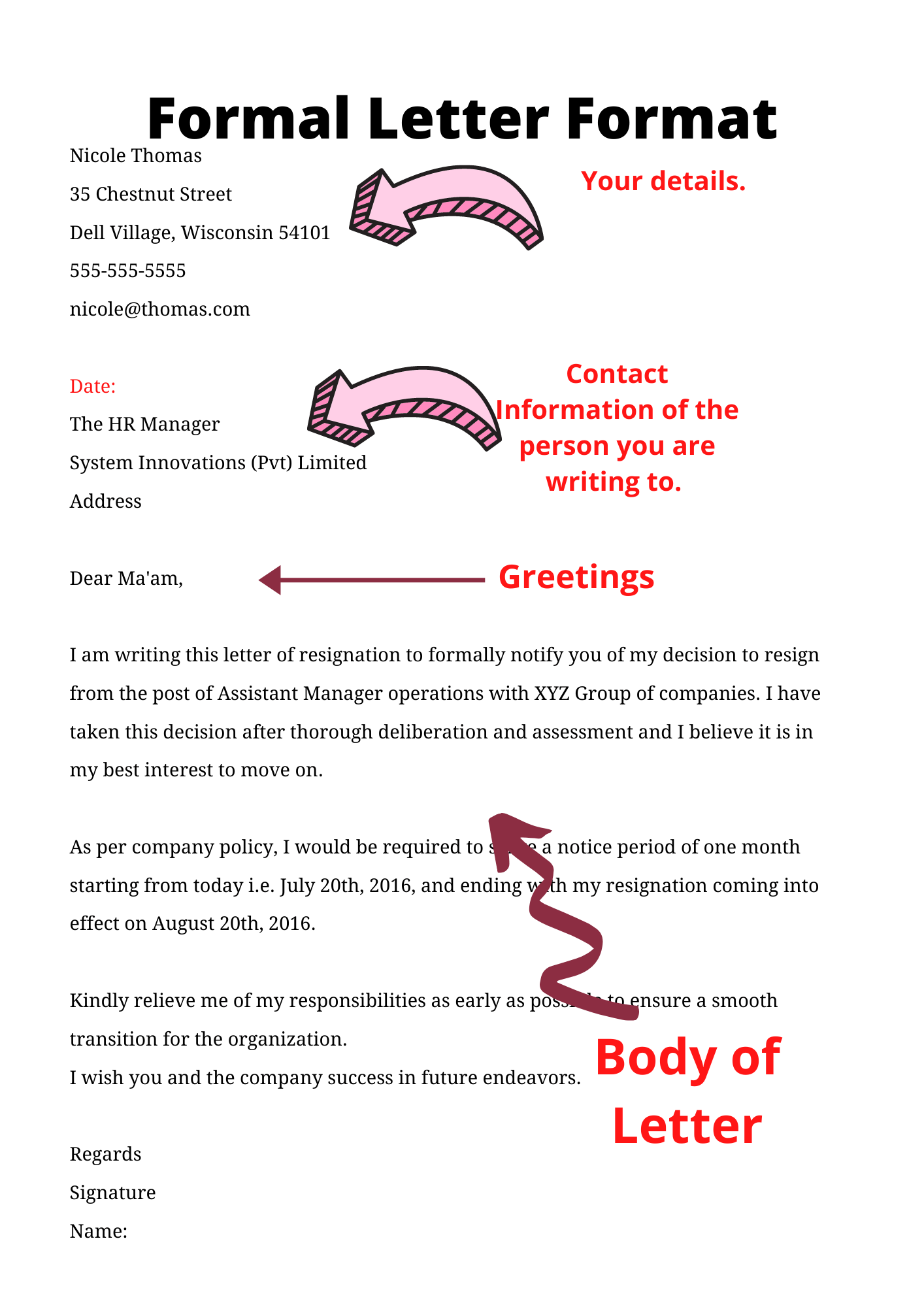 How to Write a Formal Letter  Step by Step Guide  Formats & Samples