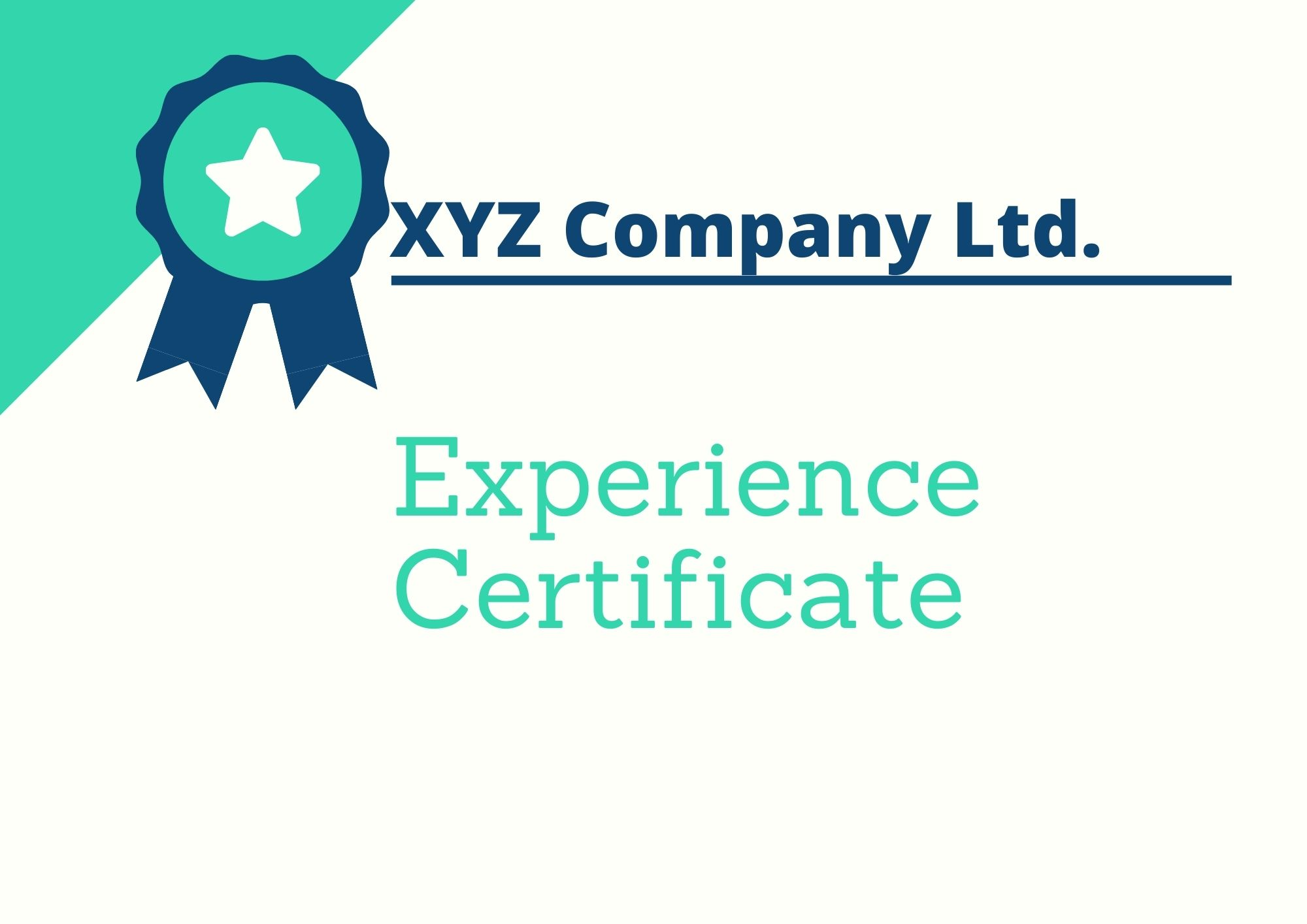 Experience Certificate Format   Download Format & Samples   Word, PDF
