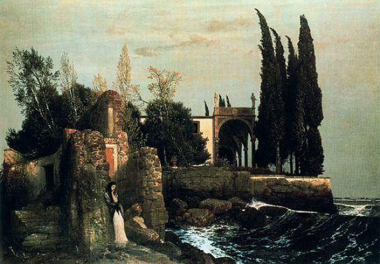 Villa by the Sea by Arnold Bocklin