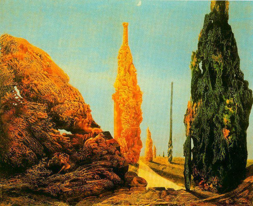 Lone trees and other trees, Max Ernst