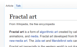 Why doesn't Fractal Art have a half-decent Wikipedia page?