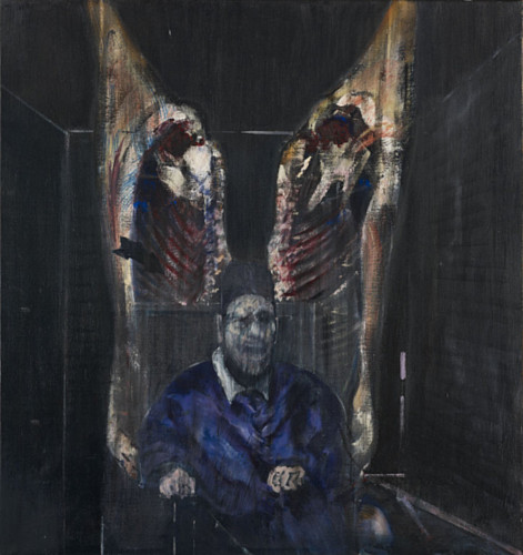 Figure with Meat by Francis Bacon, 1954