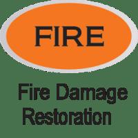 orange fire damage restoration icon