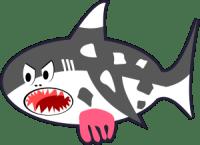 Black-White-Red-Cartoon-Shark-Cow