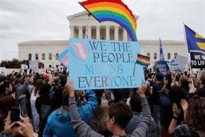 citizens protest for LGBTQIA+ rights