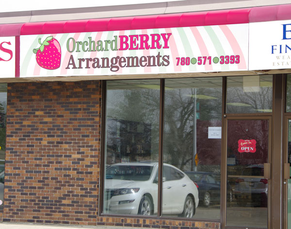 Orchard Berry Arrangments - Store Front - King Street, Spruce Grove