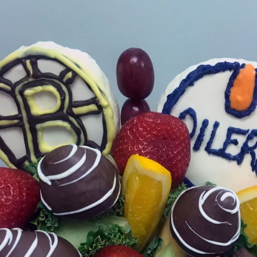 Boston and Oilers Bouquet - Orchard Berry Arrangements, Spruce Grove
