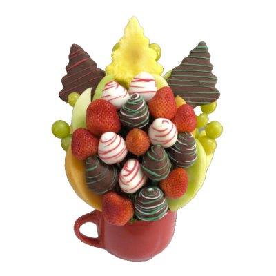 Merry Christmas Edible Bouquet - Orchard Berry Arrangements