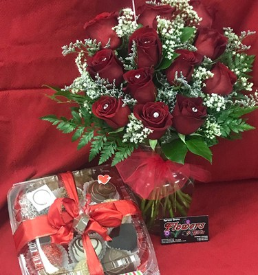Valentine Flowers and Chocolates, the Real Traditional I Love You Message