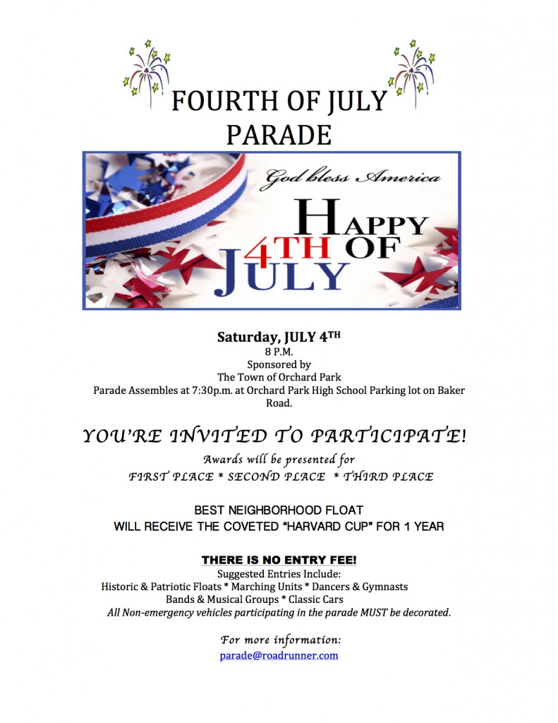 FOURTH OF JULY stars Flier 2015