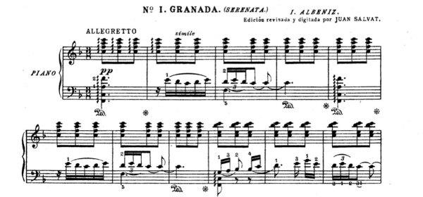 """Isaac Albéniz's """"Granada"""" from Suite Espagnola"""