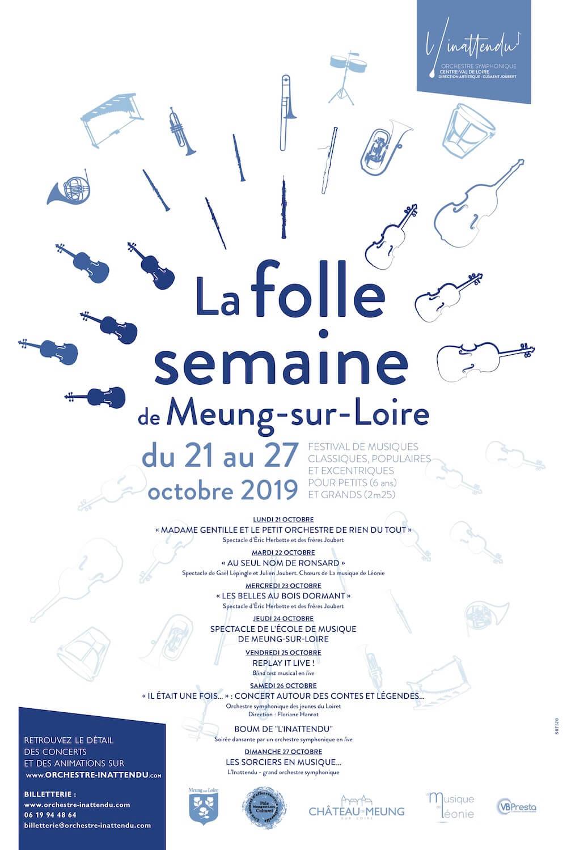 Affiche du festival La folle semaine de Meung-sur-Loire du 21 ou 27 octobre 2019