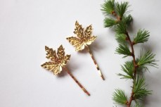 Maple Leaf Bobby Pins