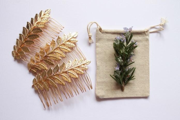 Maia Gold Leaf Hair Comb
