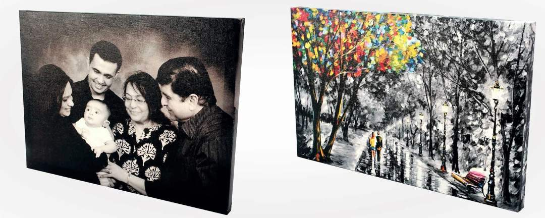 Custom canvas prints and paintings