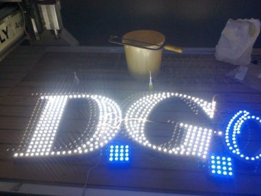 DG opticals open dotted LED signboard