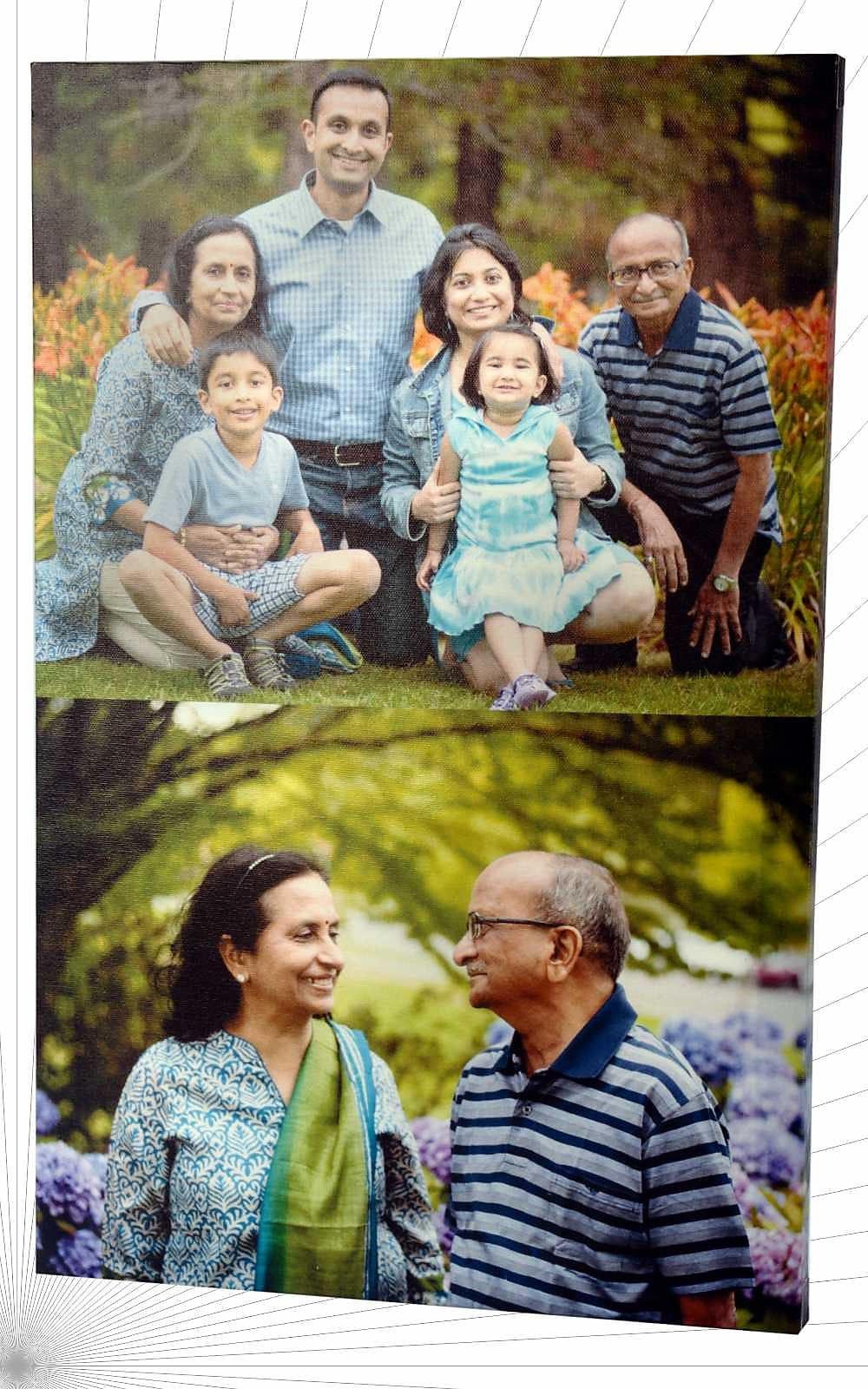 Photo printing on canvas frame
