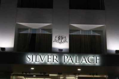 Silver Palace steel letters with all weather strip LEDs
