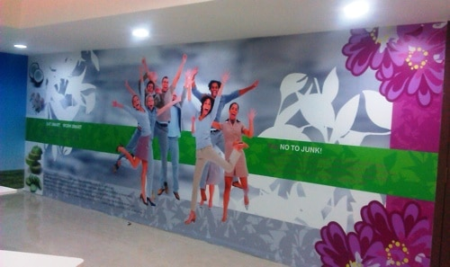 Personalized printed wallpaper with lamination