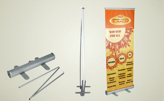 standee printing on collapsible stands