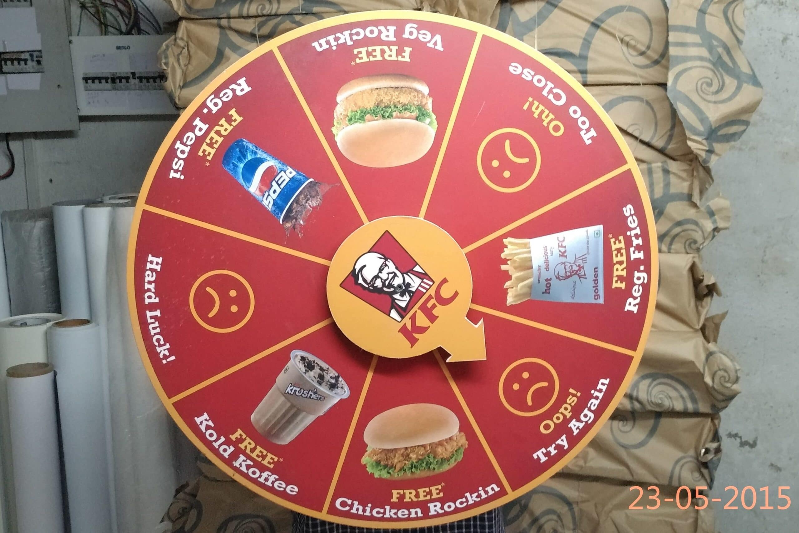 Wheel of fortune game created for KFC a s a great party game idea
