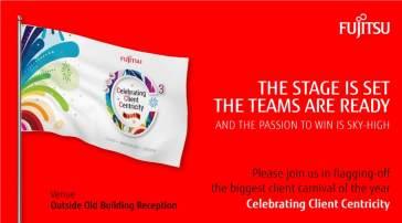 Fujitsu flag hoisting invitation