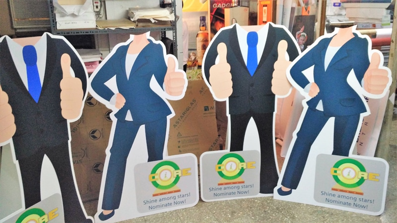 Cut out standee / Shape cut display boards