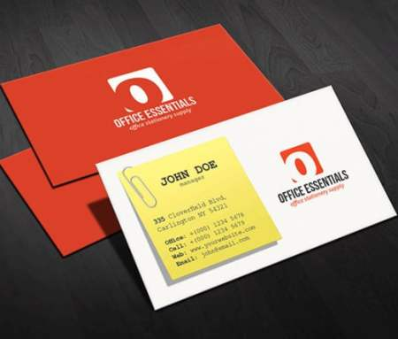two sided visiting card printing