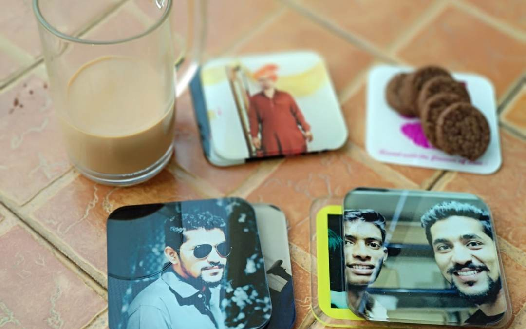 UV printed personalized tea coasters bearing your logo, design or images