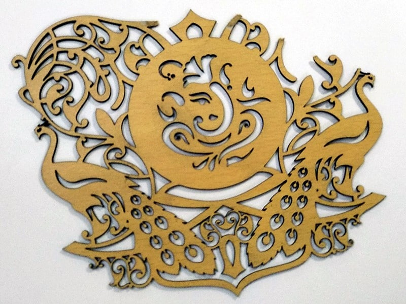 Custom cut stencils of your designs using a laser cutting machine