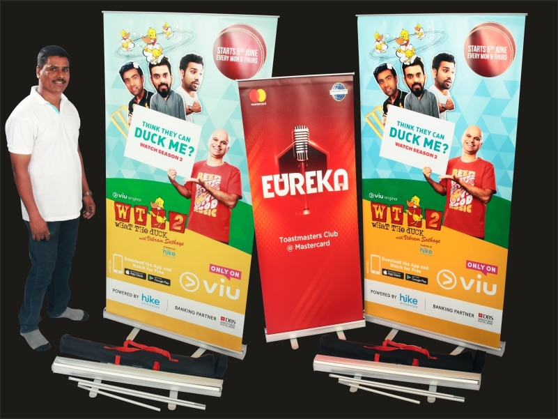 price for 6 X 3 roll up standee inkjet photo print