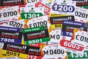 marathon bibs digitally printed on non tearable paper with identification numbers logos names and other details