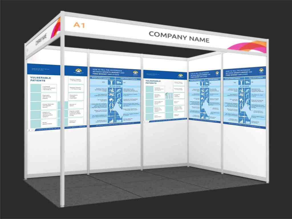 exhibition posters printind on foamsheet and pasted on panels