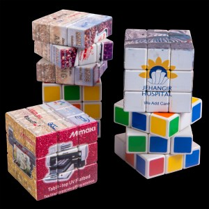 personalized rubik's cube UV printed with photos and images is a fabulous corporate gifting idea