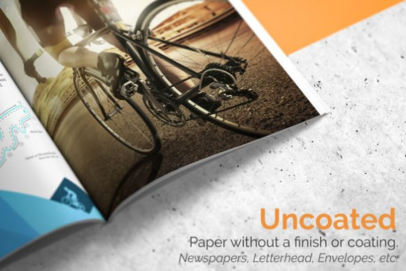 benefits of using un-coated paper as against coated paper