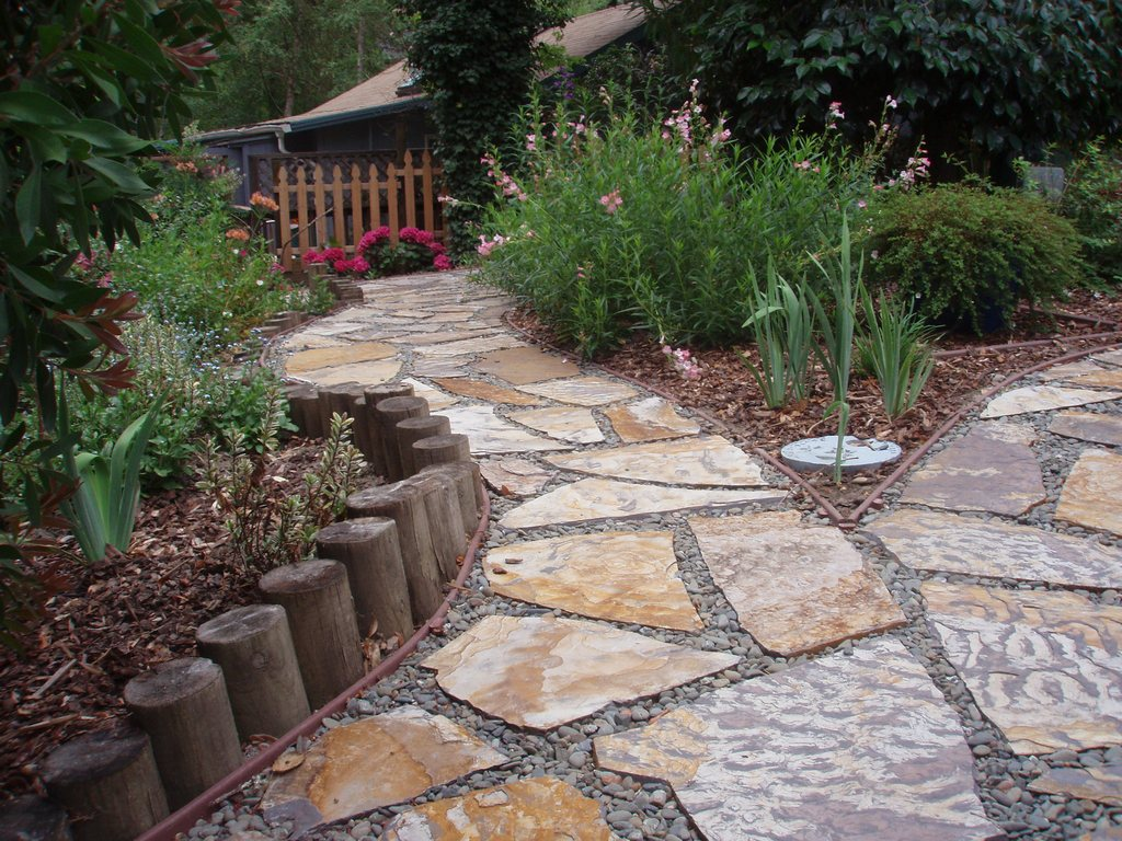 How to Decorate a Garden? | Orchid Flowers on Backyard Walkway Ideas id=36045