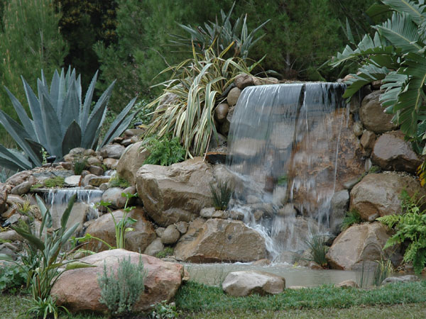 How to Decorate a Rock Garden? | Orchid Flowers on Rock Garden Waterfall Ideas  id=90085