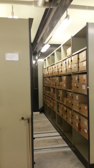 An example of the boxes which contain the specimens