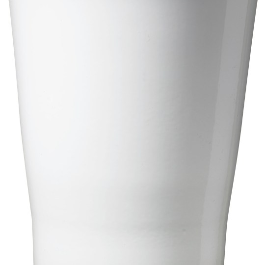 Merina Candy Ceramic Orchid Pot Shiny White (14cm)
