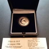 Pièce de 10 Francs ARGENT - Schumann 1986