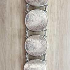 Bracelet Argent avec pièces 50F HERCULE 900‰ - achat or bordeaux
