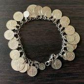 Bracelet en argent reprouction de Francs - Porte monnaie pour pièce en Or - achat or et compagnie