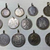 Collection de pièce Argent en pendentif- achat Or bordeaux