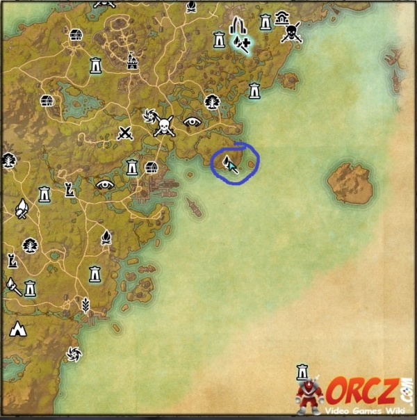 Location Map Gloombound Mine
