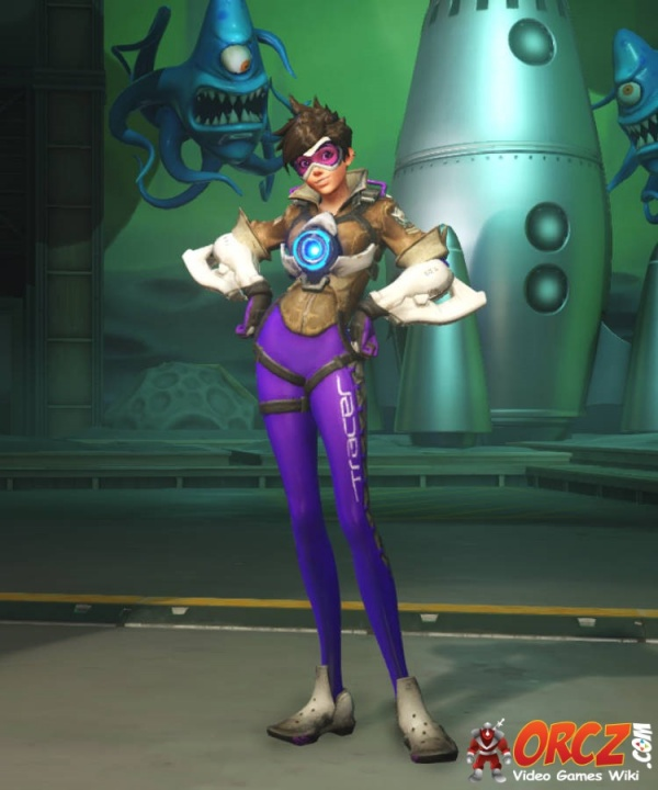 Overwatch Tracer Electric Purple Skin The