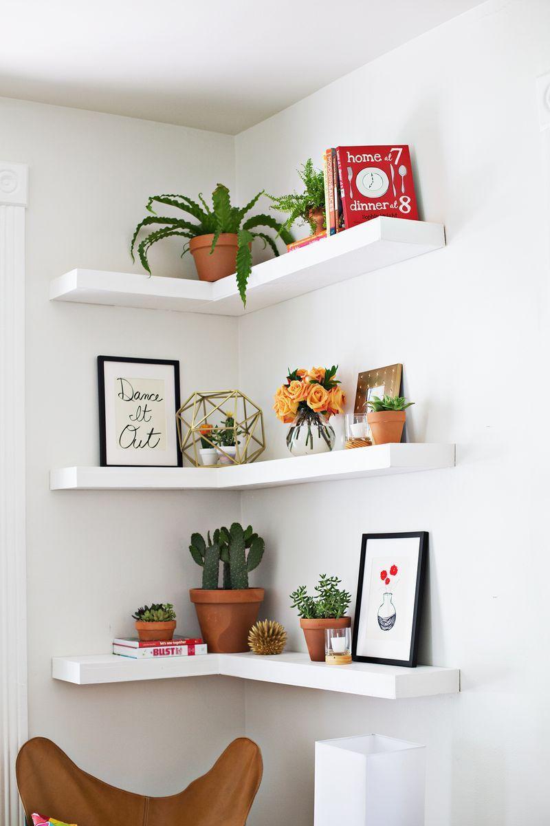 DIY floating shelves (click through for more)