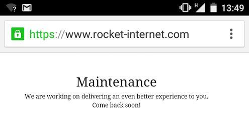 rocket website broke