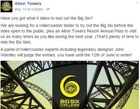 alton towers tester