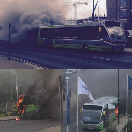 burning bus