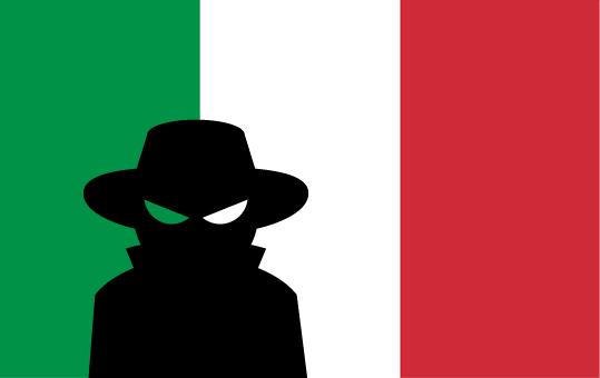 italy flag spy